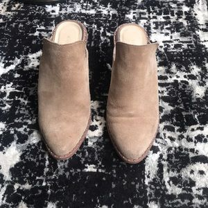 CHINESE LAUNDY x suede backless boots